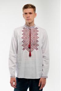 Вышиванка мужская «Сузирья» белого цвета
