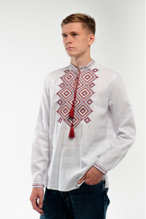 Вишиванка чоловіча «Сузір'я» білого кольору