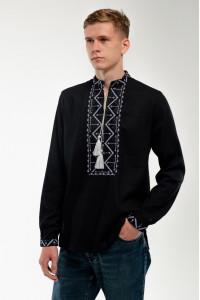 Вышиванка мужская «Самийло» черного цвета