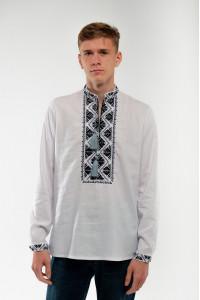 Вышиванка мужская «Самийло» белого цвета