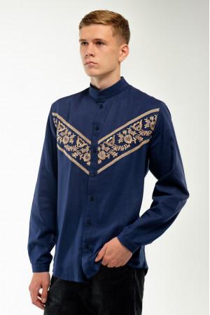 Вишиванка чоловіча «Ярополк» синього кольору