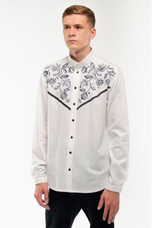 Вышиванка мужская «Находка» белого цвета