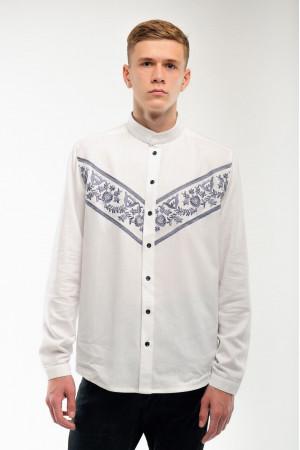 Вышиванка мужская «Ярополк» белого цвета