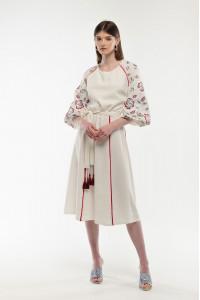 Платье «Ясочка» молочного цвета