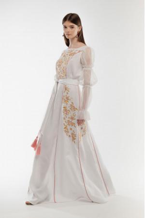 Платье «Лелийка» белого цвета