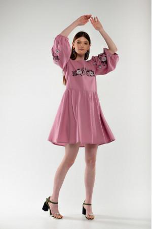 Платье «Зозулька» розового цвета