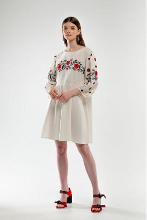 Платье «Зозулька» молочного цвета
