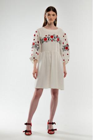 Сукня «Зозулька» молочного кольору