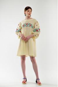 Платье «Зозулька» желтого цвета