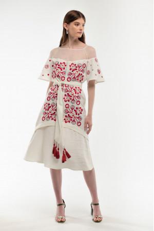 Сукня «Ягідка» молочного кольору