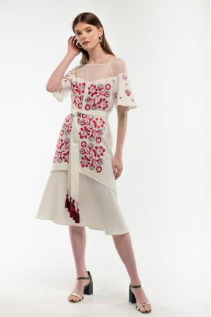 Платье «Ягидка» молочного цвета