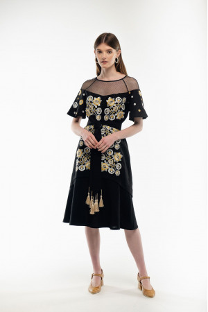 Платье «Ягидка» черного цвета