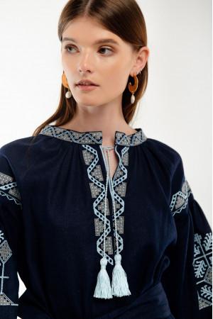 Платье «Спадок» темно-синего цвета