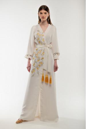 Платье «Лебидка» молочного цвета