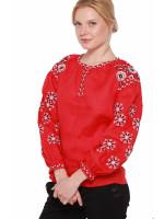 Вышиванка «Столетняя» красного цвета