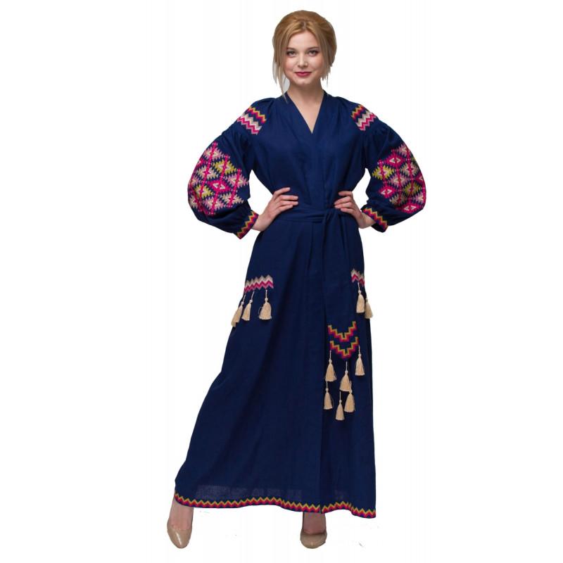 2d6e20756149a0 Сукня Барвограй синього кольору 1110-3004 (5651891) за доступною ...