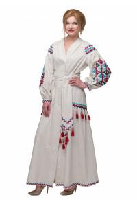 Сукня «Барвограй» молочного кольору
