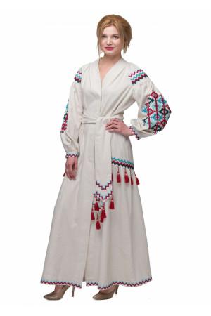 Платье «Барвограй» молочного цвета