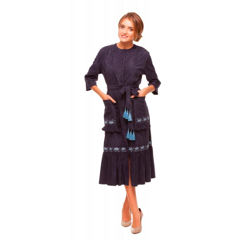 e54577d9a4c52b Сукня Колоски темно-синього кольору 1110-3009 (5651931) за доступною ...