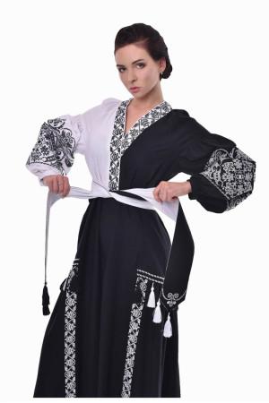 Платье «Жасмин» черно-белое