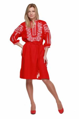 Сукня «Сокальська» червоного кольору
