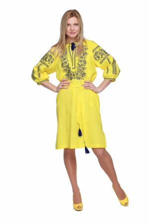 Платье «Сокальское» желтого цвета