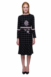 Сукня «Косиця» чорного кольору