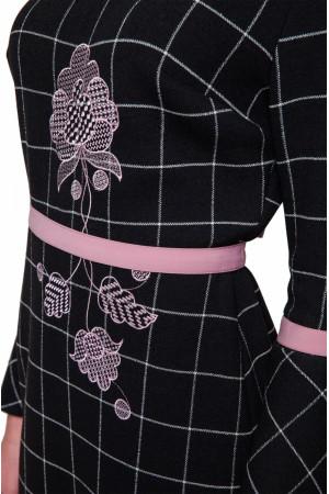 Платье «Косица» черного цвета