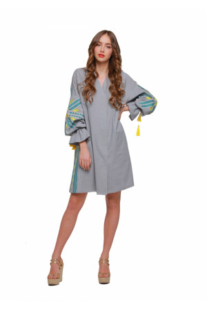 Сукня «Сяйво» сірого кольору
