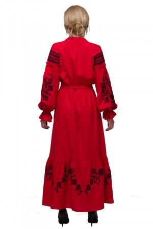 Сукня «Східний сад» червоного кольору