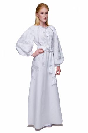 Платье «Громовица» белого цвета
