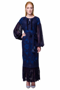 Сукня «Мольфарка» синього кольору