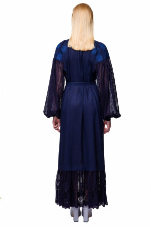 Платье «Мольфарка» синего цвета