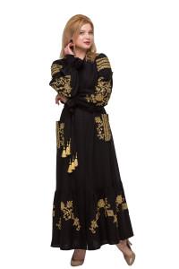 Платье «Восточный сад» черного цвета