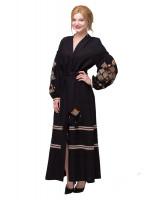 Платье «Ромбы Косач» черного цвета
