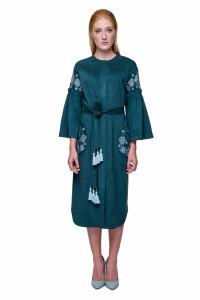Платье «Багровка» цвета морской волны