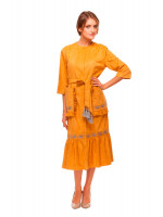 Сукня «Колоски» кольору охри