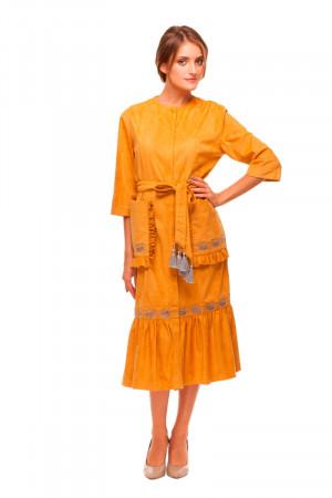 Платье «Колоски» цвета охры