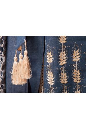 Платье «Колоски» цвета джинс