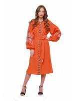 Платье «Пробуждение» оранжевого цвета