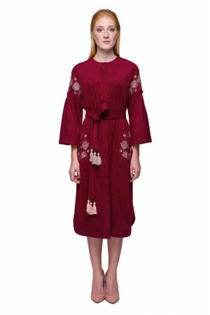Платье «Багровка» бордового цвета