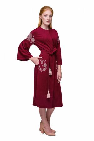 Сукня «Багрівка» бордового кольору
