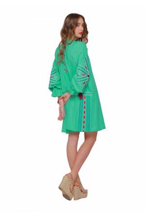 Платье «Сияние» зеленого цвета