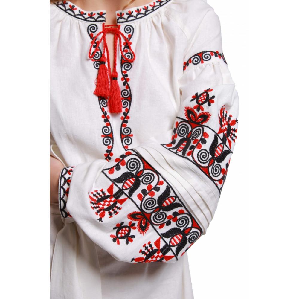 22ef744ff78176 Сукня «Берегиня» білого кольору – з вишивкою, український стиль, купити у  Києві