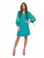 Платье «Первоцвет» бирюзового цвета