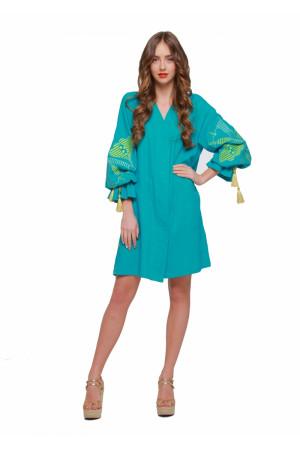 Сукня «Первоцвіт» бірюзового кольору