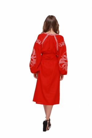 Сукня «Веснянка» червоного кольору