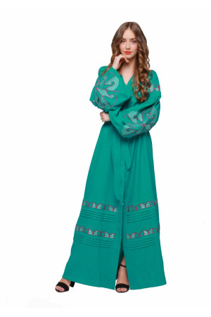 Платье «Веснянка» цвета морской волны