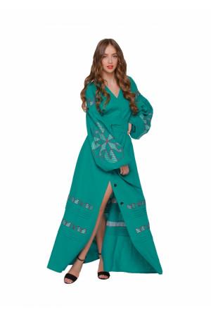 Сукня «Веснянка» кольору морської хвилі