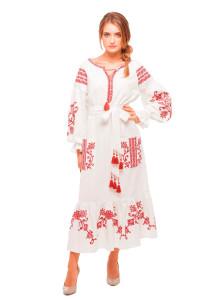 Платье «Вишневый сад» белого цвета